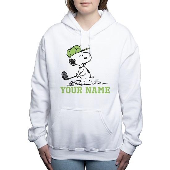 f48ad5f2b Snoopy Golf Personalized Women's Hooded Sweatshirt Snoopy Golf ...