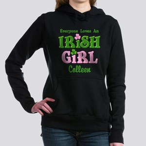 Personalized Loves An Irish Girl Hooded Sweatshirt