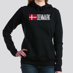 Denmark: Danish Flag & D Women's Hooded Sweatshirt