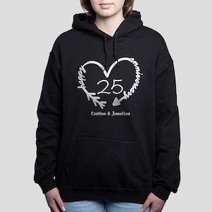 Custom Anniversary Doodl Women's Hooded Sweatshirt