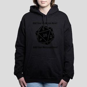 Personalized D20 Graphic Women's Hooded Sweatshirt