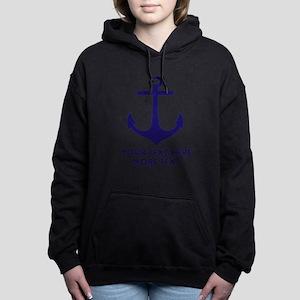 Nautical Boat Anchor Women's Hooded Sweatshirt