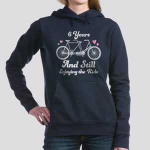6th anniversary couples Women's Hooded Sweatshirt