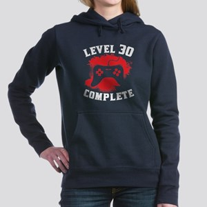 Level 30 Complete 30th Birthday Women's Hooded Swe