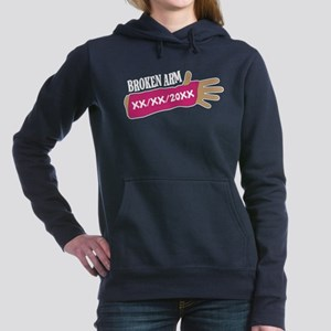 Custom Broken Arm Women's Hooded Sweatshirt