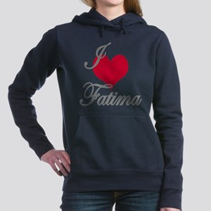 I love (heart) Fatima Women's Hooded Sweatshirt