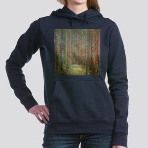 Gustav Klimt Pine Forest Hooded Sweatshirt