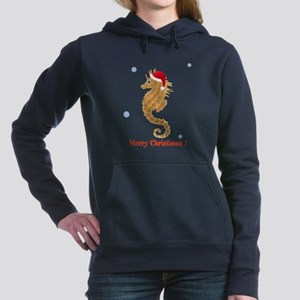 Personalized Christmas Seahorse Hooded Sweatshirt