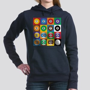 Pop Art Pool Balls Women's Hooded Sweatshirt