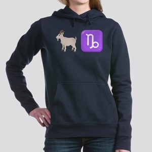 Emoji Capricorn Zodiac Women's Hooded Sweatshirt