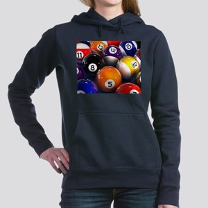 Billiard Balls Women's Hooded Sweatshirt