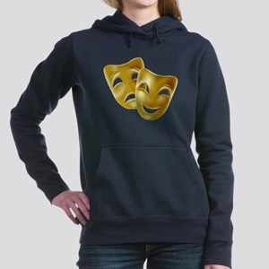 Masks of Comedy and Trag Women's Hooded Sweatshirt
