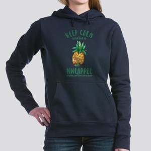 Keep Calm Pineapple Women's Hooded Sweatshirt