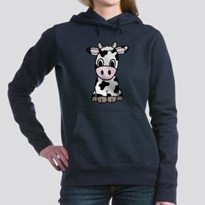 Cute Cartoon Cow Women's Hooded Sweatshirt