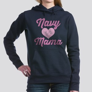 Navy Mama Pride Women's Hooded Sweatshirt