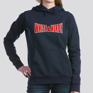 White  Nerdy Women's Hooded Sweatshirt