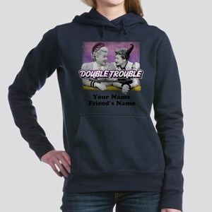 Double Trouble Personali Women's Hooded Sweatshirt