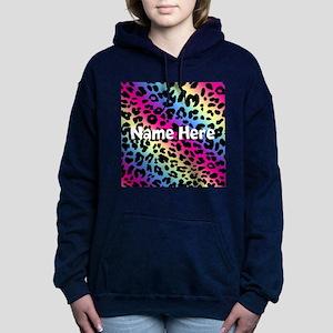 0600a4ee9f32 Personalized Neon Leopard Women's Hooded Sweatshir