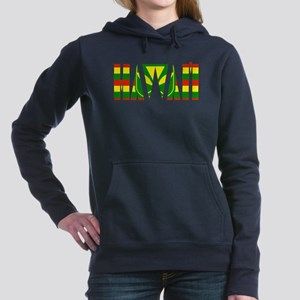 hawaii kanaka flag Women's Hooded Sweatshirt