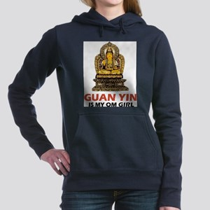 Guan Yin Is My Om Girl Women's Hooded Sweatshirt