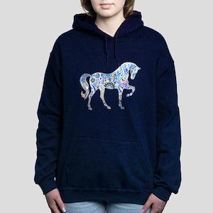 Cool Colorful Horse Women's Hooded Sweatshirt