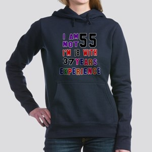 55 Birthday Designs Women's Hooded Sweatshirt