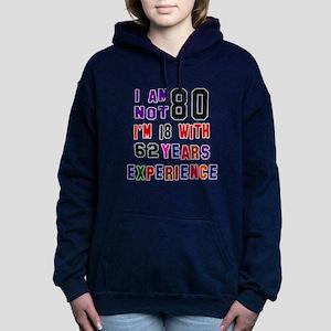 80 Birthday Designs Women's Hooded Sweatshirt