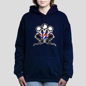 Barber Skulls Women's Hooded Sweatshirt