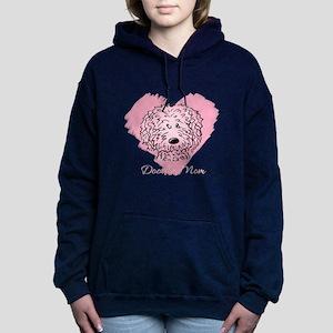 KiniArt Doodle Mom Women's Hooded Sweatshirt