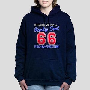 Really Cool 66 Birthday Women's Hooded Sweatshirt
