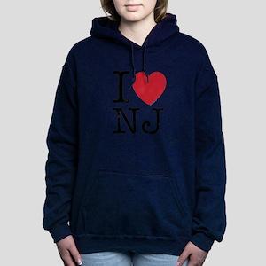 I Love NJ New Jersey Women's Hooded Sweatshirt