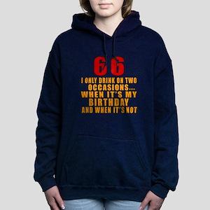 66 Birthday Designs Women's Hooded Sweatshirt