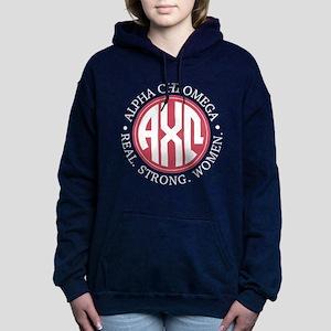 Alpha Chi Omega Monogram Women's Hooded Sweatshirt