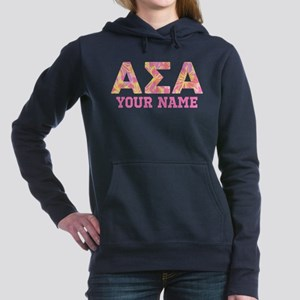 Alpha Sigma Alpha Letter Women's Hooded Sweatshirt
