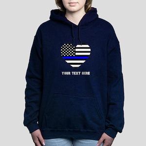 Thin Blue Line Love Women's Hooded Sweatshirt