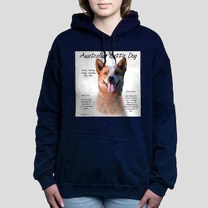 Cattle Dog (red) Women's Hooded Sweatshirt