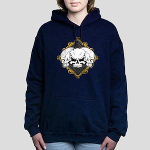 skull-scrollframe-lgclock Hooded Sweatshirt