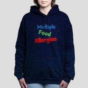 Multiple Food Allergies Women's Hooded Sweatshirt