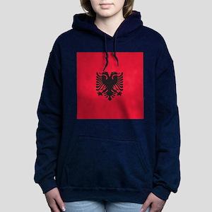 Albania Flag Women's Hooded Sweatshirt