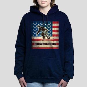 Grunge USA Snowboarding Women's Hooded Sweatshirt