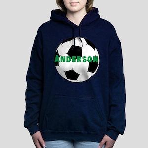Personalized Soccer Ball Women's Hooded Sweatshirt