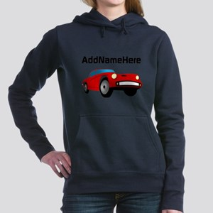 Sports Car, Custom Name Hooded Sweatshirt