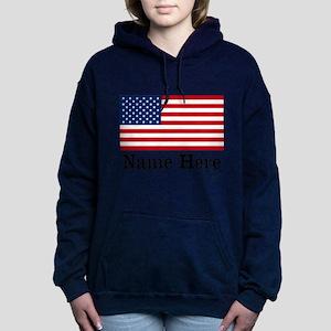 Personalized American Flag Hooded Sweatshirt