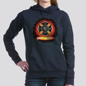 Personalized Fire and Rescue Women's Hooded Sweats