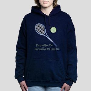 Personalized Tennis Hooded Sweatshirt