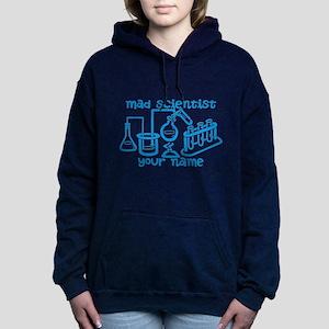Personalized Mad Scientist Women's Hooded Sweatshi
