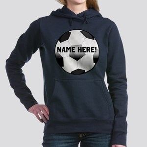 Personalized round soccer ball Women's Hooded Swea