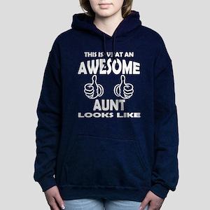 Awesome Aunt Looks Like Women's Hooded Sweatshirt
