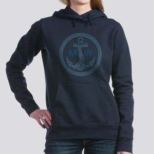 Anchor, Nautical Monogram Women's Hooded Sweatshir
