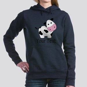 Personalizable Black and White Cow Sweatshirt